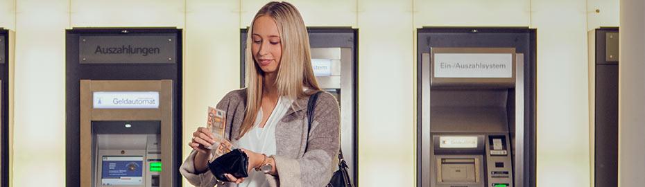 Geldautomaten der Volksbank Mindener Land